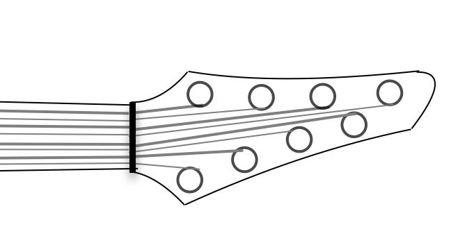 8 string headstock mockup