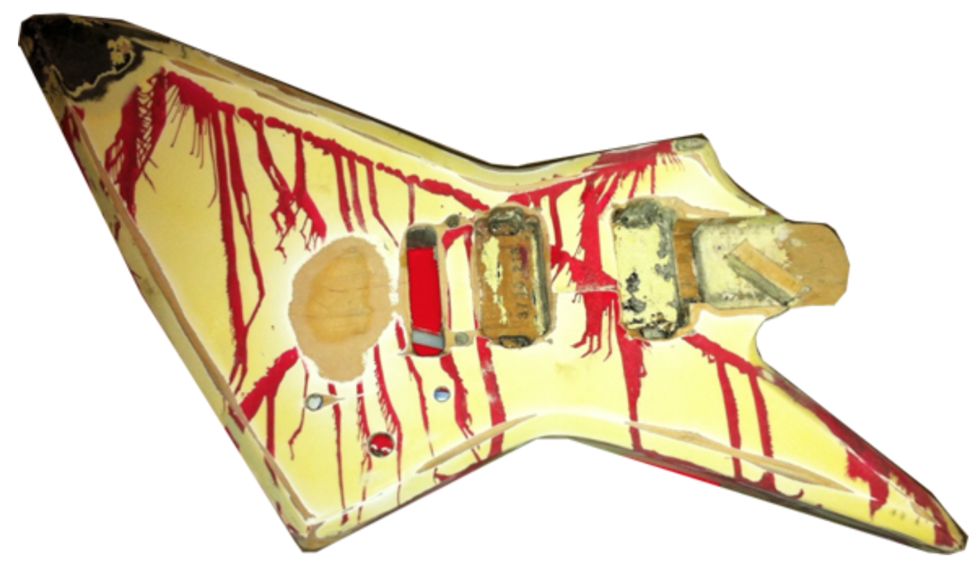 ZZ guitar with blood spatter paintjob