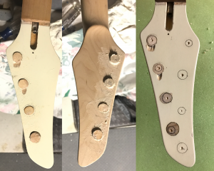 Headstock plugged, ready to drill