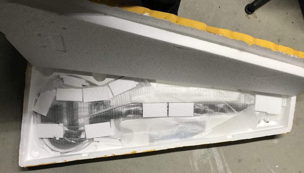 Styrofoam shipping box