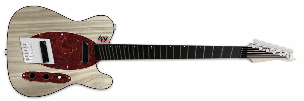 multiscale tele guitar mockup