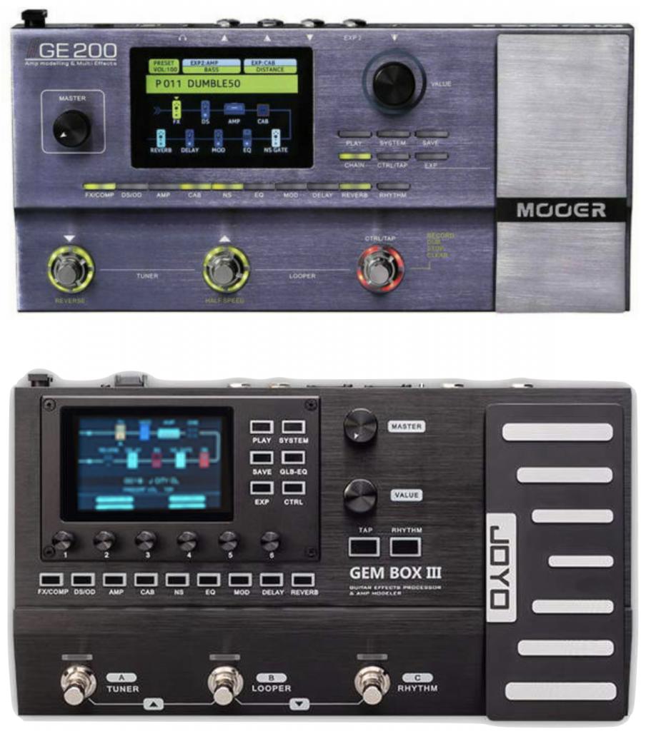 Mooer GE-200 and Joyo GEM Box 3.